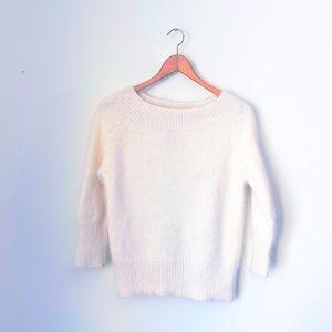 Diane & White Angora Knit Cream Pullover Sweater L